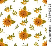 seamless pattern with... | Shutterstock .eps vector #1796943523