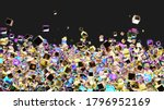 cubes 3d background. luxury... | Shutterstock . vector #1796952169