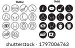 facial treatment flat icon set | Shutterstock .eps vector #1797006763