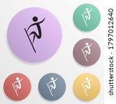 surfing badge color set icon....