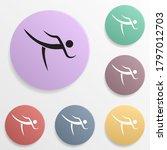 taekwondo badge color set icon. ...