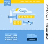 modern flat vector website...