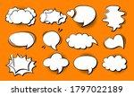 speech bubble comic pop art set....   Shutterstock .eps vector #1797022189