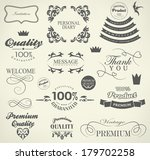 calligraphic design elements ... | Shutterstock . vector #179702258