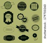set of retro vintage labels ... | Shutterstock . vector #179703260