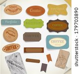 set of retro vintage labels. | Shutterstock . vector #179703890