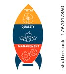 tqm    total quality management.... | Shutterstock .eps vector #1797047860