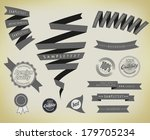 set retro ribbons and label | Shutterstock . vector #179705234