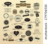 labels in different style and... | Shutterstock . vector #179706530