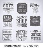 retro  vintage bakery labels... | Shutterstock . vector #179707754