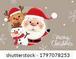 merry christmas and happy new... | Shutterstock .eps vector #1797078253