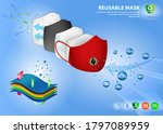 set of cloth face mask... | Shutterstock .eps vector #1797089959