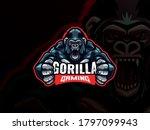 gorilla mascot esport logo... | Shutterstock .eps vector #1797099943
