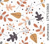 Seamless Pattern Of Different...