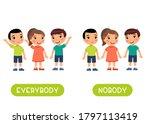 everybody and nobody antonyms... | Shutterstock .eps vector #1797113419