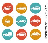 car icons | Shutterstock .eps vector #179712524