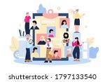 employee hiring banner with... | Shutterstock .eps vector #1797133540