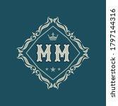 Monogram Mm Letters   Concept...