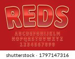 decorative reds font and...   Shutterstock .eps vector #1797147316