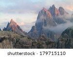 rock pillars of cadini di... | Shutterstock . vector #179715110