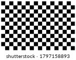 checkerboard. black and white... | Shutterstock .eps vector #1797158893