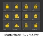 gift box icon set different...