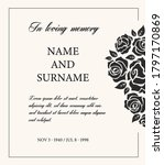 funeral card vector template ... | Shutterstock .eps vector #1797170869