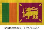 sri lanka flag with a fabric... | Shutterstock . vector #179718614