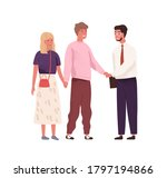 young couple meeting and... | Shutterstock .eps vector #1797194866