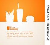 fast food design. vector... | Shutterstock .eps vector #179719523