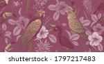 luxury tropical pattern. exotic ... | Shutterstock .eps vector #1797217483