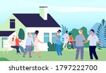 nursing home. elderly people... | Shutterstock .eps vector #1797222700