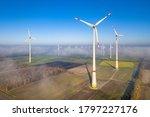 Aerial View Of Wind Energy...