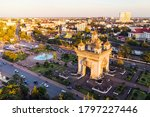 Vientiane Laos  Sunrise In The...