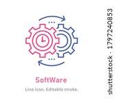 software outline icon on white... | Shutterstock .eps vector #1797240853