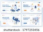 set of landing page design...   Shutterstock .eps vector #1797253456