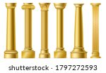 golden columns. classic antique ... | Shutterstock .eps vector #1797272593