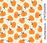cute pumpkin seamless pattern....   Shutterstock .eps vector #1797293599