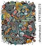 cartoon vector doodles...   Shutterstock .eps vector #1797301273
