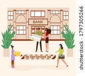 vector illustration queue of... | Shutterstock .eps vector #1797305266