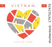 Flag Of Vietnam With Heart...