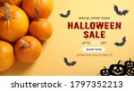 Halloween Sale Ad Design With...