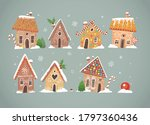 greeting christmas card with... | Shutterstock .eps vector #1797360436
