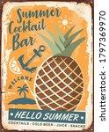 pineapple poster design in... | Shutterstock .eps vector #1797369970