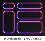 neon gradient frames set ... | Shutterstock .eps vector #1797372586