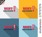 best girlfriend ever sign icon. ... | Shutterstock .eps vector #179737274
