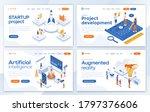 set of landing page design...   Shutterstock .eps vector #1797376606