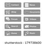 buttons for web page menu in... | Shutterstock . vector #179738600
