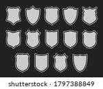set of shields isolated on dark ...   Shutterstock .eps vector #1797388849