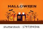 happy halloween banner or sale... | Shutterstock .eps vector #1797394546